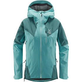 Haglöfs L.I.M Touring Proof Chaqueta Mujer, glacier green/willow green